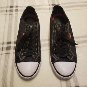 LEVI'S Men's Denim Canvas Sneakers Gray Size 9